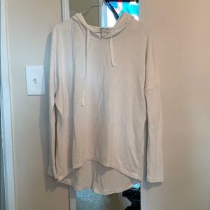 White Forever21 hoodie. High low.